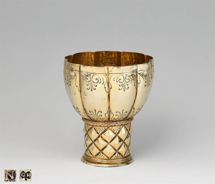 "Silver-Gilt ""Roemer"" with Diamond-Pattern and Lobbed Cuppa 