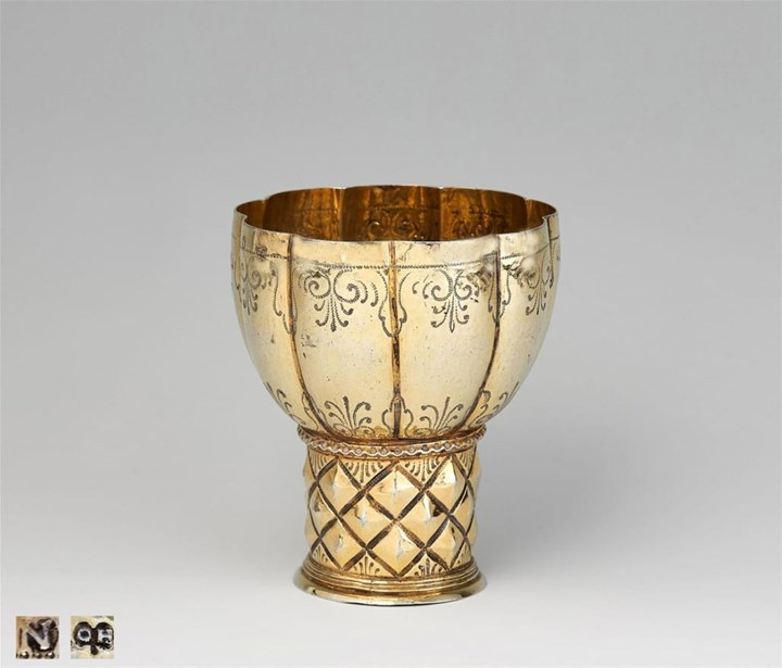 "Silver-Gilt ""Roemer"" with Diamond-Pattern and Lobbed Cuppa"