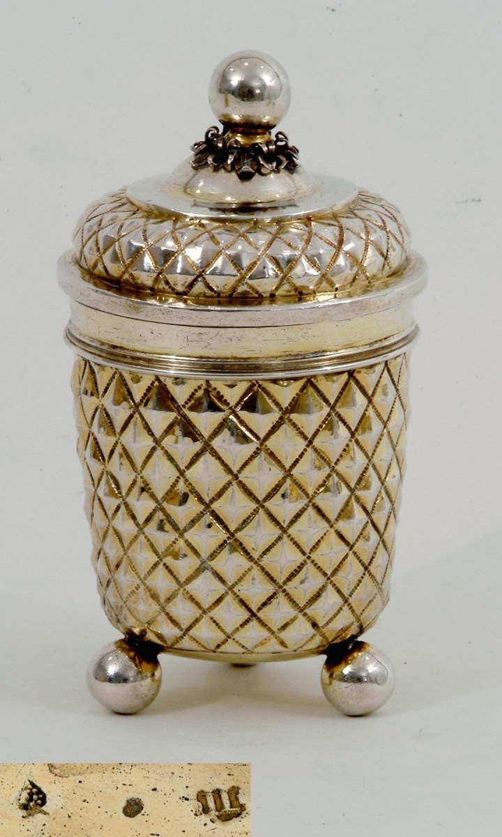 A Very Fine German Diamond-Cut Beaker and Cover