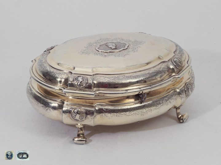 Fine German Silver-Gilt Toilet-Box