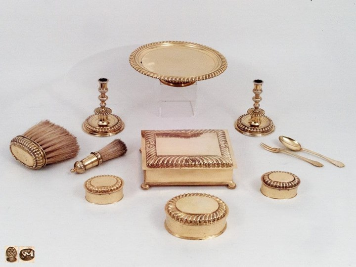 Silver-gilt Eleven-Part Toilette Service