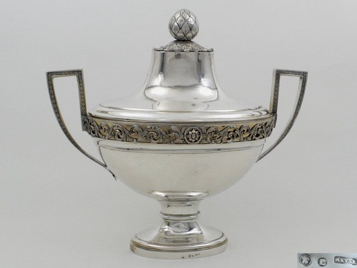 Very Fine German Parcel-Gilt Silver Soup Tureen