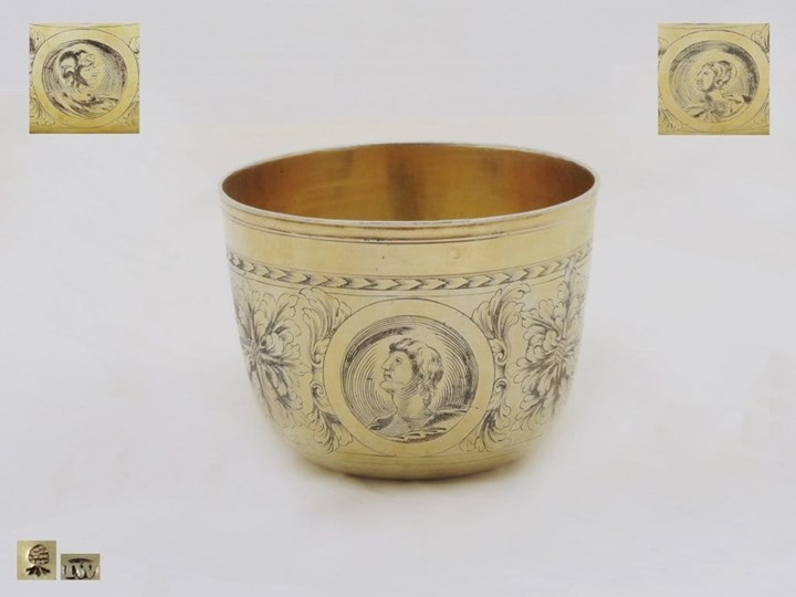 Very Fine German Silver-Gilt Tumbler-Cup