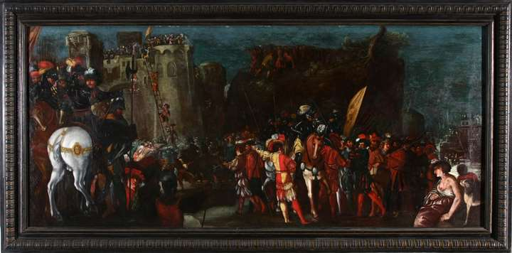 The taken of Rome by Charles V