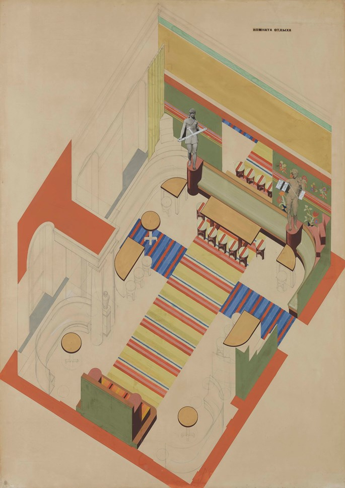 Vassily Ermilov - Design for a Recreation Room in the Kharkov Palace of Pioneers | MasterArt