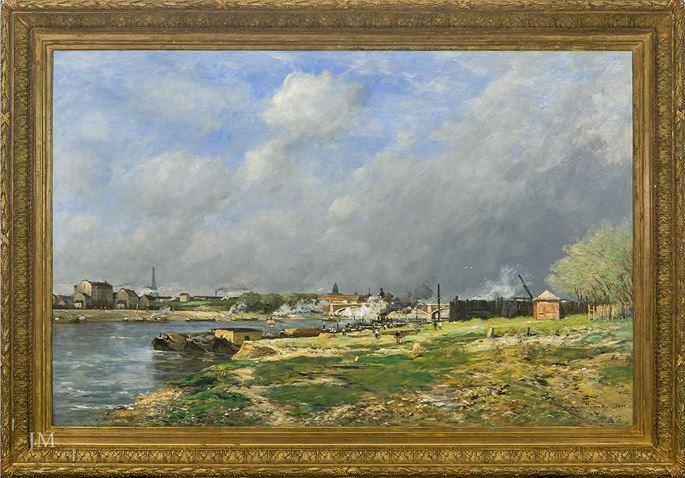 Antoine Guillemet - Paris: la Seine a Conflans-Charenton vu du Quai des Carrières | MasterArt