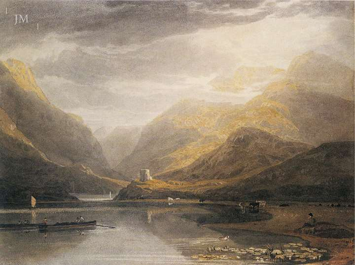 Llanberis lake with Dolbadarn castle