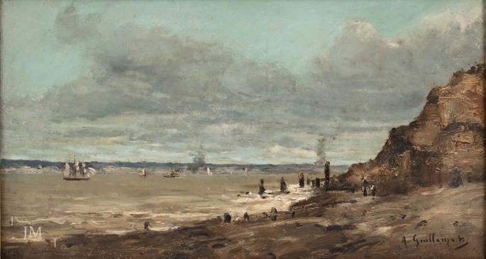 Antoine Guillemet - View from Trouville sur Mer across the Baie de la Seine | MasterArt