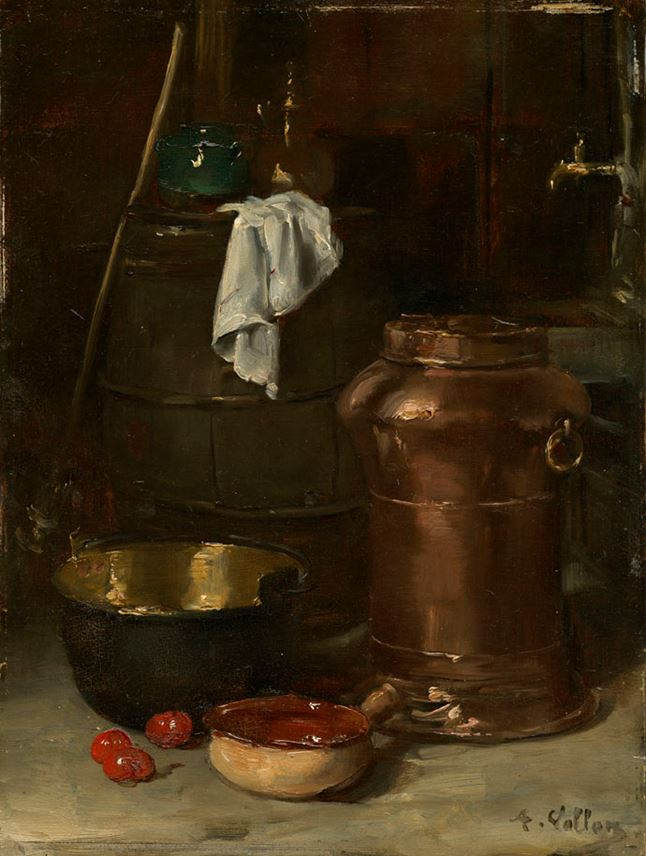 Antoine Vollon - Nature morte au pot de cuivre | MasterArt