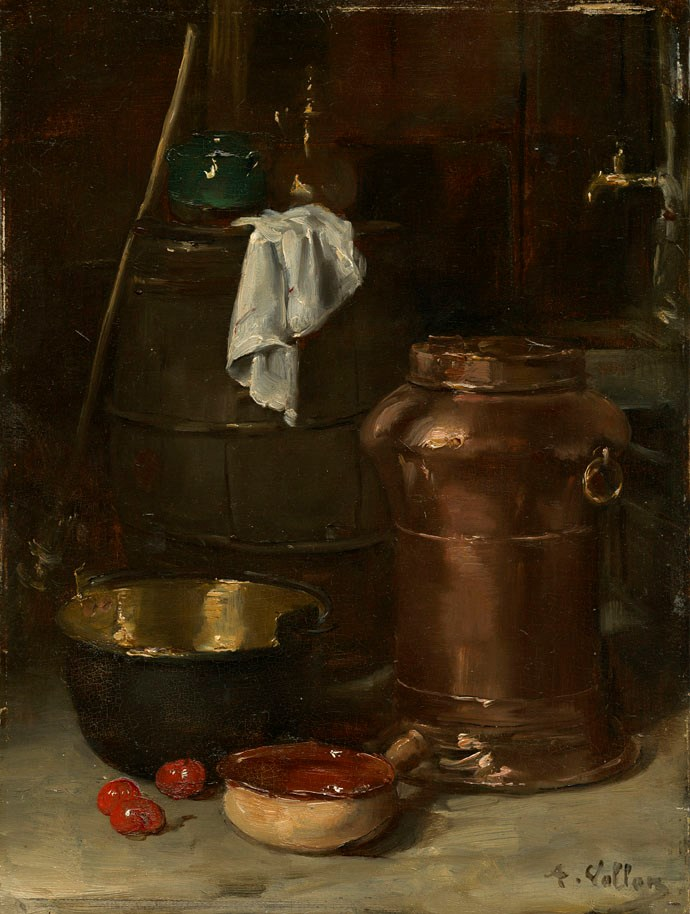 Nature morte au pot de cuivre