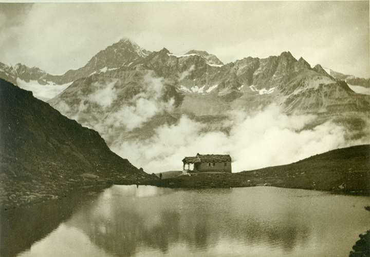The Obergabelhorn seen from Schwarzsee, Zermatt