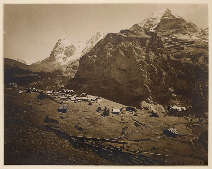 Bruno and brothers Wehrli - The Eiger, Monch and Jungfrau seen from Muerren, Bernese Oberland, Switzerland. | MasterArt