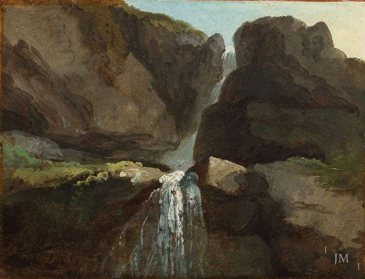 Study of the Geltenbach Falls in the Lauenen Valley
