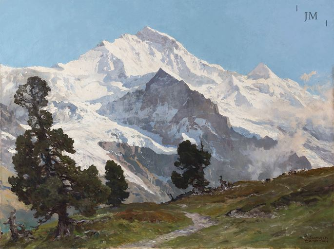 Edward Harrison Compton - The Jungfrau Massif seen from below Männlichen, Bernese Oberland, Switzerland | MasterArt