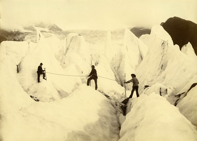 Florentin Charnaux - Climbers on the Glacier de Bossons, Chamonix | MasterArt