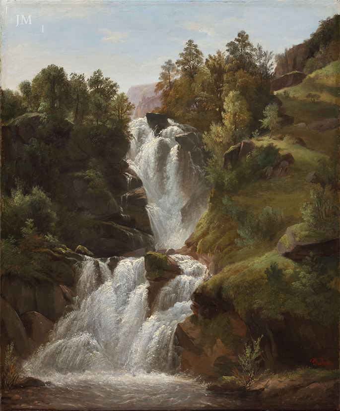 François Diday - The Reichenbach Falls, Bernese Oberland | MasterArt