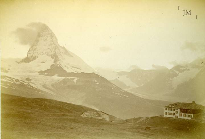 Riffelberg and Matterhorn in cloud
