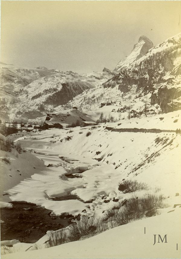Gabriel Loppé - Zermatt riverbed winter with Matterhorn | MasterArt