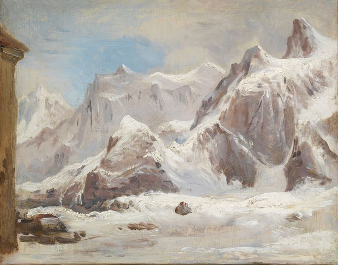Gustave Eugene Castan - Pain du Sucre as seen from the St Bernard Pass | MasterArt
