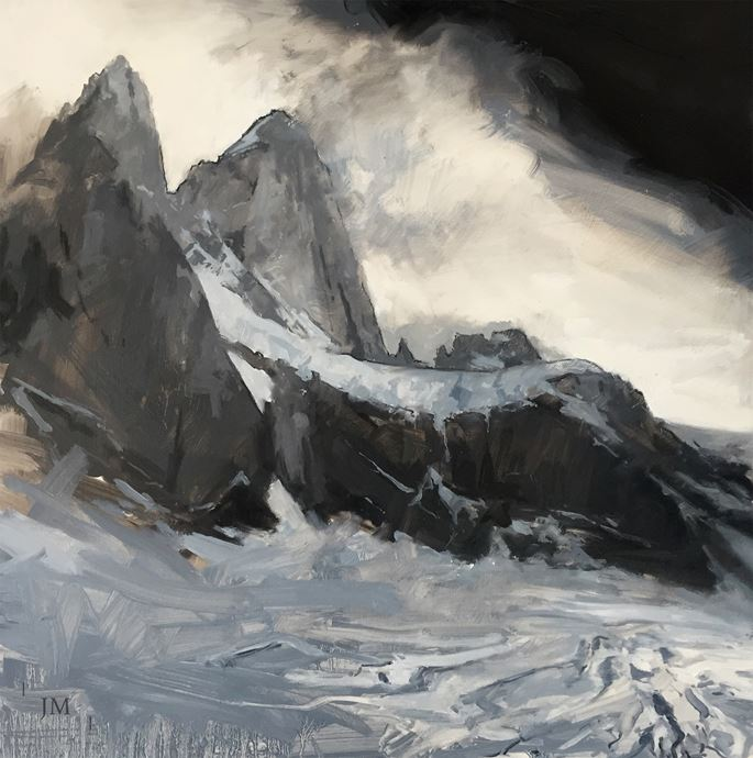 James Hart Dyke - Cathedrals of the world, Fitz Roy, black and white | MasterArt