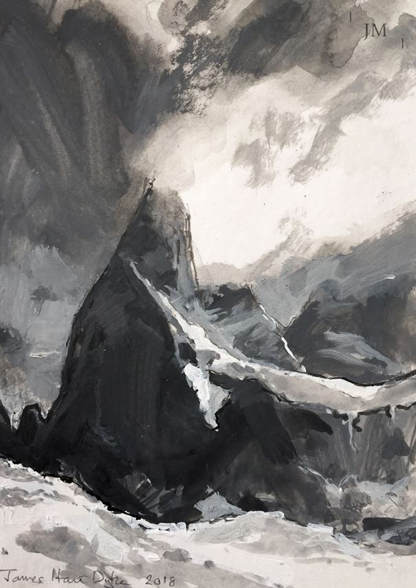 James Hart Dyke - Cerro Poincenot and glacier | MasterArt
