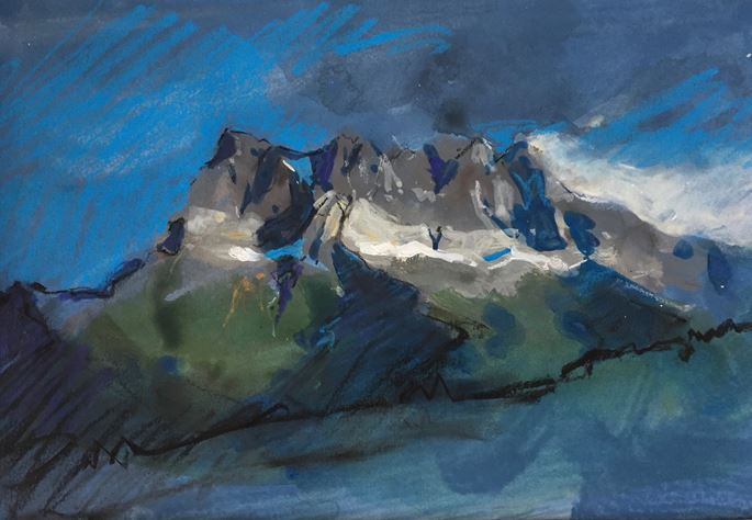 James Hart Dyke - Dents du Midi study - blue and grey | MasterArt