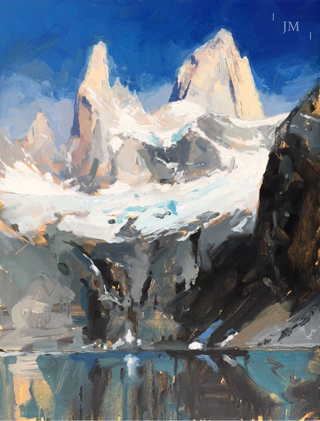 James Hart Dyke - Fitz Roy and Laguna Sucia, light | MasterArt