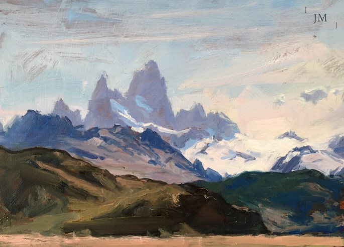 James Hart Dyke - Fitz Roy from beyond El Chalten 2018  | MasterArt