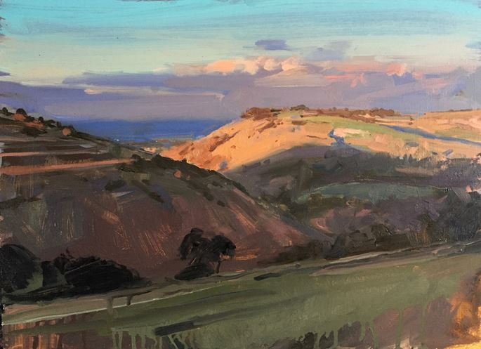 James Hart Dyke - Last light, South Downs | MasterArt