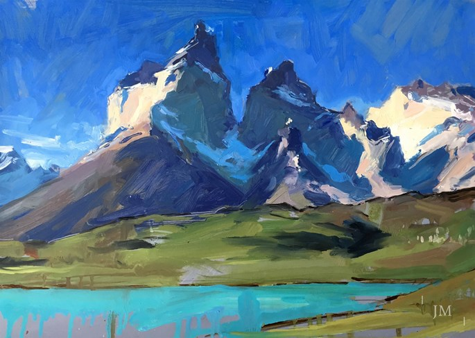 James Hart Dyke - Los Cuernos del Paine, last light 2018 | MasterArt
