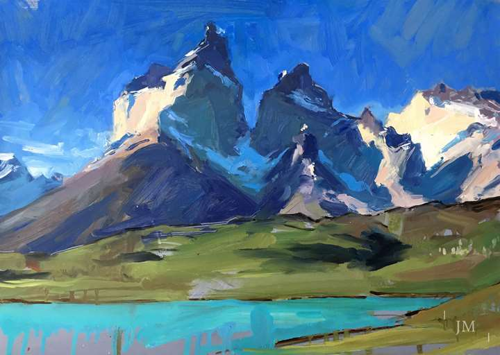 Los Cuernos del Paine, last light 2018