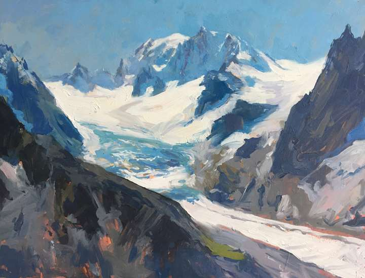 Mont Blanc seen from the Couvercle Hut, Chamonix