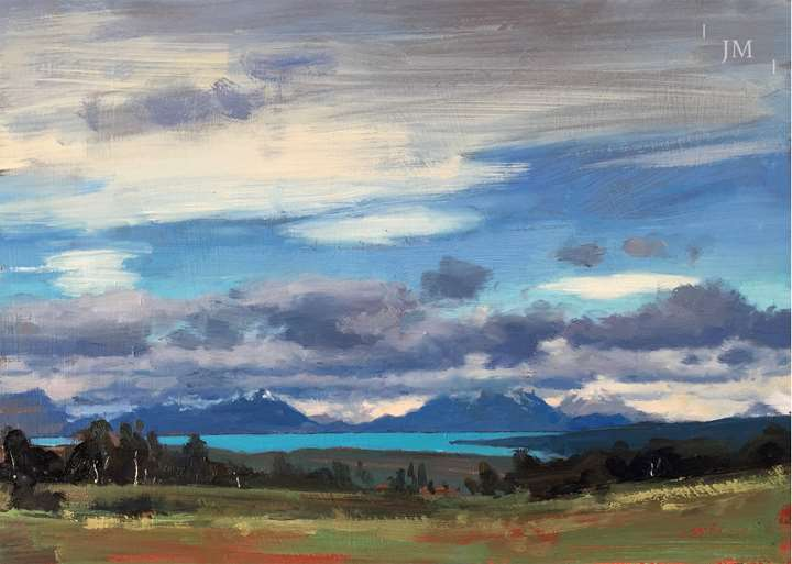 Patagonia landscape, study 2018