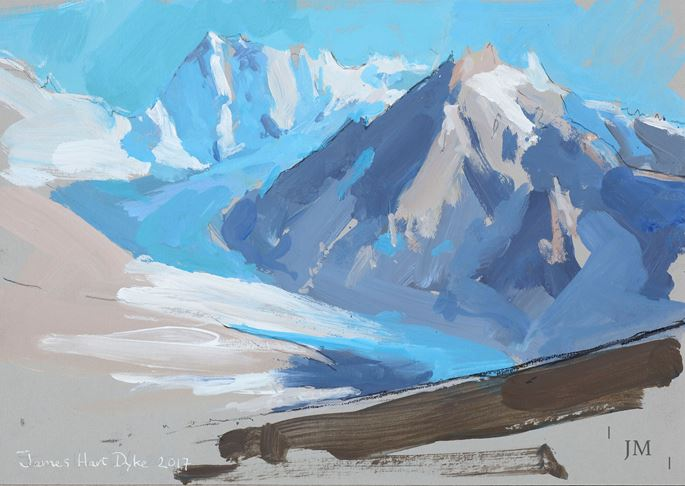 James Hart Dyke - The Grandes Jorasses seen from the Couvercle Hut, Chamonix | MasterArt