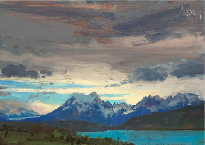 James Hart Dyke - Torres del Paine and icefield | MasterArt