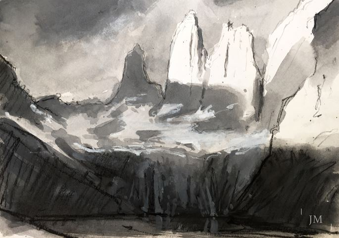 James Hart Dyke - Torres del Paine, black white 2018 | MasterArt