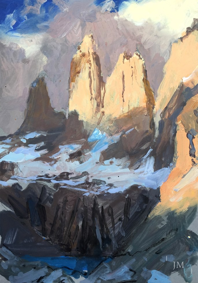 James Hart Dyke - Torres del Paine, first light study 2017 | MasterArt