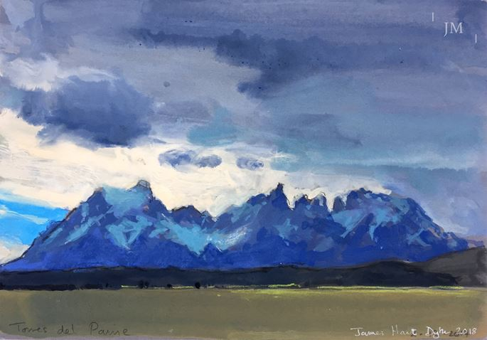 James Hart Dyke - Torres del Paine, grey and green 2018  | MasterArt