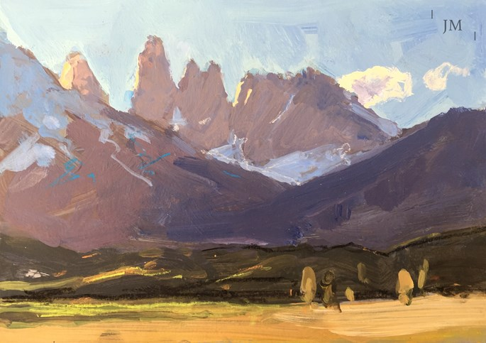 James Hart Dyke - Torres del paine and single cloud 2018  | MasterArt