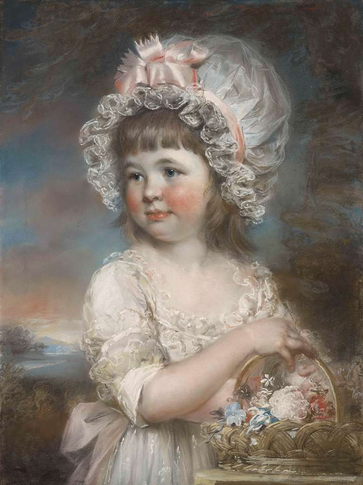 Portrait of Lady Henrietta Elizabeth Cavendish, younger daughter of William, fifth Duke of Devonshire, aged five, later Harriet Leveson-Gower, Countess Granville (1785-1862)