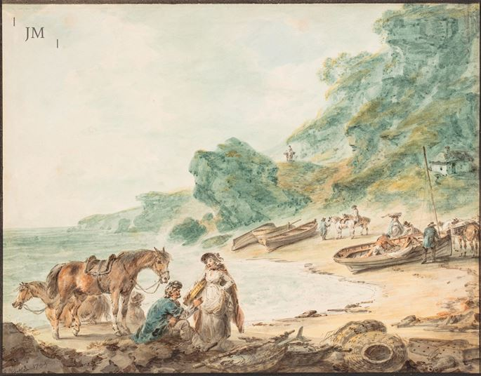 Julius Caesar Ibbetson - Fisherfolk on the Isle of Wight | MasterArt