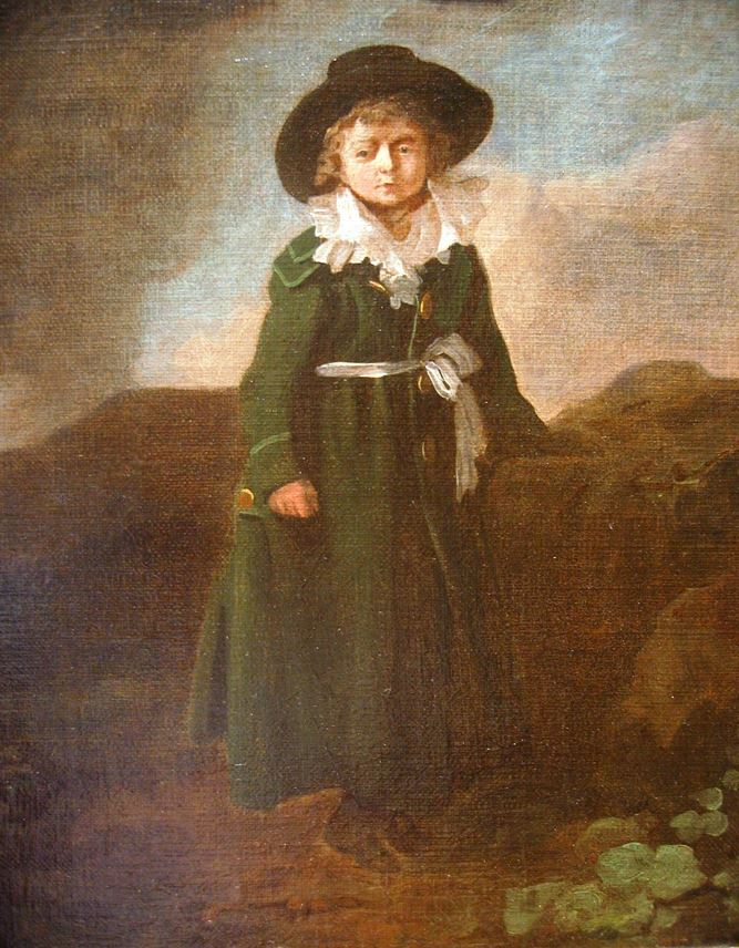 Julius Caesar Ibbetson - Portrait of a boy in a landscape | MasterArt