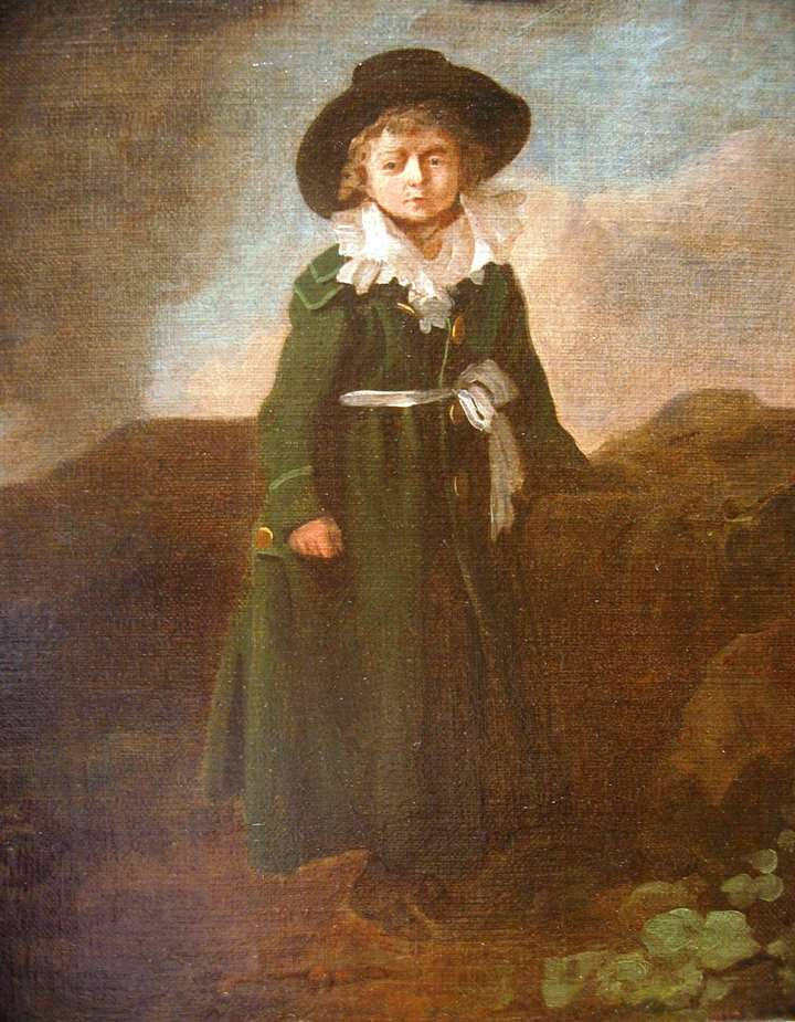 Portrait of a boy in a landscape