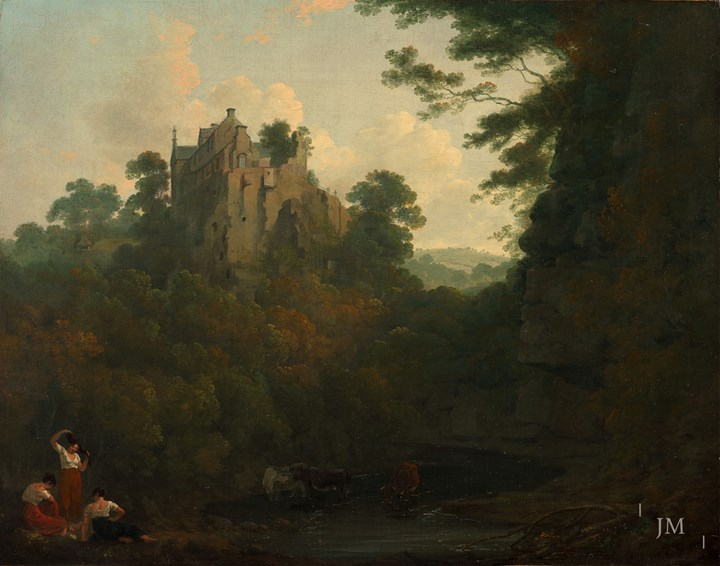 View of Hawthornden Castle on the River North Esk, Midlothian, Scotland