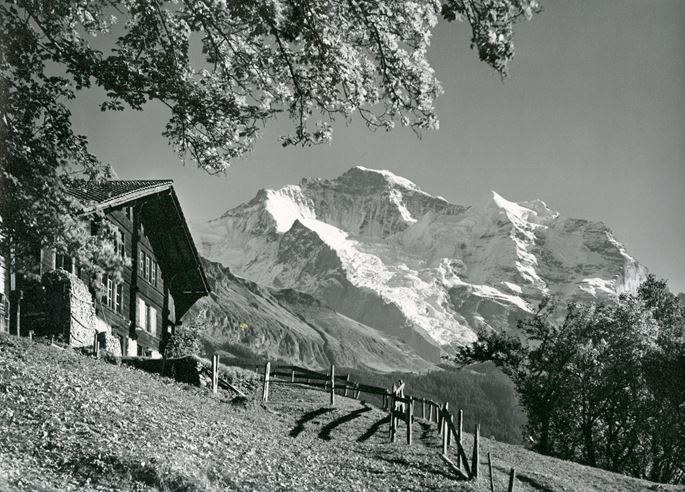 Julius Burch - The Jungfrau seen from Wengen, Bernese Oberland, Switzerland. | MasterArt