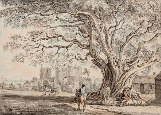 Paul Sandby - Lea Castle, in the Queen's County, Ireland | MasterArt