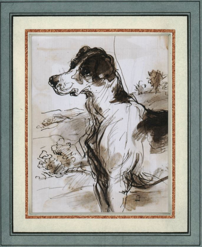 Sir Francis Grant - Study of a dog | MasterArt