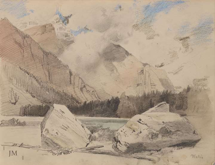 Study of a lake in the Wallis, Switzerland