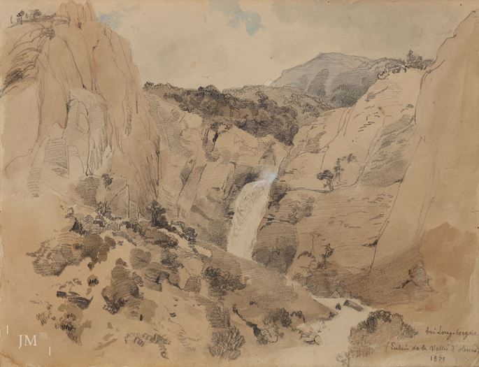 Traugott Schiess - Study of a waterfall in Longeborgne | MasterArt