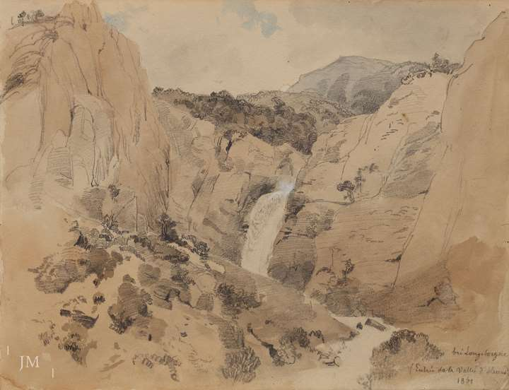 Study of a waterfall in Longeborgne